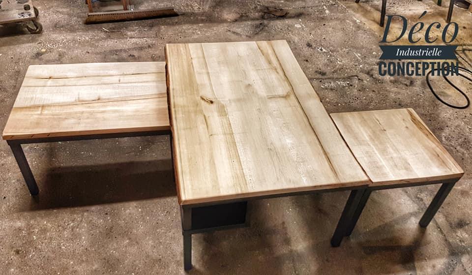 Tables basses gigogne industrielle